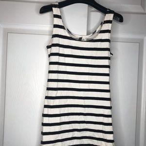Black and white striped H&M pencil dress